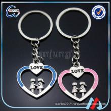 Coeur keyring couples keyring usine direct gros couple porte-clés