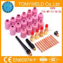 Wp18 tig soldagem arma consumíveis 35PK tig soldagem peças kits