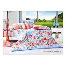 100 Baumwolle 40s 128 * 68 weiche schöne Blume Qualität Pigment Druck Luxus Bettwäsche gesetzt