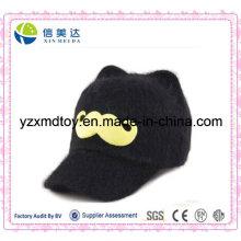 Bébé Plush Black Dome Cap Cartoon Beard Cap