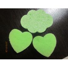 Éponge de cellulose en forme de nuage avec couleur verte