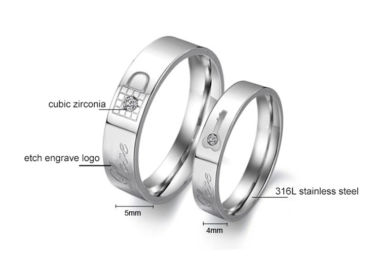 engraved wedding ring set
