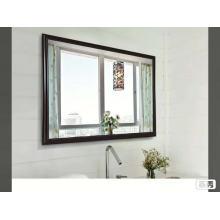 Custom handmade brush brown shower mirror with hook silver wall mirrors