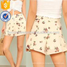 Los pantalones cortos de la llamarada de la impresión floral hacen la ropa al por mayor de las mujeres de la manera (TA3019B)