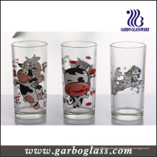 Kundenspezifischer Logo-Druck Hiball Glas-Trommel-Glas-Schale