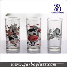 Impresión de logotipo personalizado Hiball vaso de vidrio Copa de vidrio