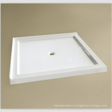 "Upc 36""X36"" Double Thresholds Tile Flange Low Rim Shower Base"