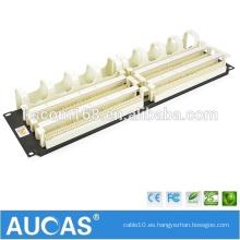 """1U 19 """"200 par 110 patch panel de voz / AMP teléfono RJ11 bloqueo de cable de voz / AUCAS patch panel de gestión de cables"""