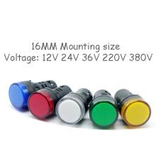 Indicateur de puissance LED de lampe de signal de la lumière 16mm d'Ad22-16ds élevée