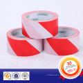 Cinta adhesiva amonestadora de Yed y del PVC blanco con el pegamento del pegamento