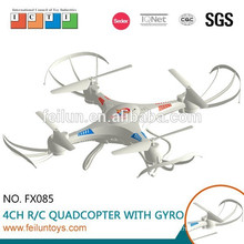 NEW! Feilun FX085 2.4G 4.5CH 6-axis gyro plastic rc quadcopter with HD camera