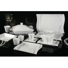 86PCS plomo libre cadmio libre reina worcester mini plato porcelana cena conjunto