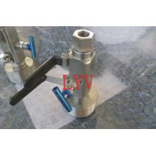 Válvula de bola Dbb de acero inoxidable con reborde superior ISO5211
