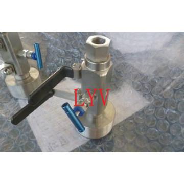 Válvula de bola de acero inoxidable Dbb para tubería con certificado API ISO