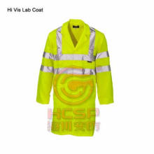 EN471 Safety Clothing High Visibility Safety Reflective  Lab Coat