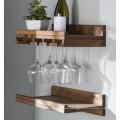 Hanging Make Solid wood wine glass rack