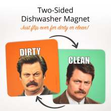 Ron Swanson Aimant Lave-vaisselle Clean Dirty