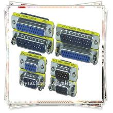 NUEVO varón del VGA SVGA de 15 pernos al adaptador masculino del acoplador del conectador / del VGA nuevo