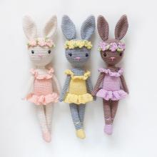 Customized Handmadex Bunny Amigurumi Crochet Rabbit Doll