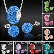 Perles de Shamballa de boule de disco en cristal d'argile de 10mm pour faire des ensembles de bijoux de Shamballa