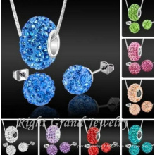 10mm Clay Crystal Disco Ball Shamballa Beads To Make Shamballa Jewelry Sets