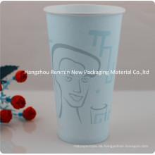 Single-Wall Paper Cup mit Griff für heißes Trinken