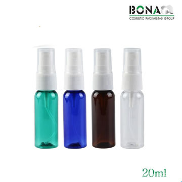 High Quality 20ml Pet Bottle Round Bottle with Sprayer