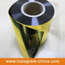 Oro Aluminio en relieve Tamper Proof Void Foil