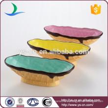 Tazón de cerámica de la pintura de la mano con diseño del helado para el regalo de la promoción