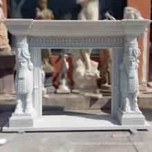 Lareira autônoma de alta qualidade Carrara White Marble Surrounds