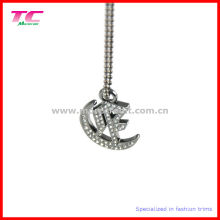 Shiny Silver Metal Pendant for Lady Handbag