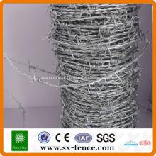 ISO, GV, BV Anping shunxing fábrica Galvanizado e pvc revestido barato arame farpado