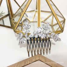 2020 New Design big rhinestone zircon bridal hair accessories wedding hair comb