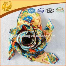 Lenço de seda de seda de 14mm impresso digital
