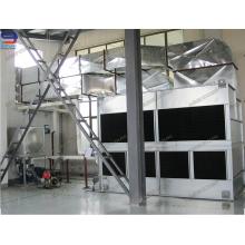 Torre de resfriamento de circuito fechado para torre de destilação