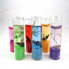 Jarra de cristal Gel Wax Ocean Tema Jelly Candles