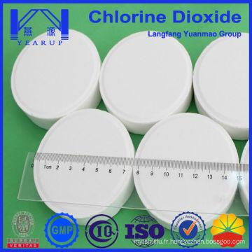 Agent chimique auxiliaire à la table de dioxyde de chlore fabriqué en Chine