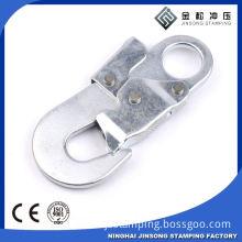 Factory wholesale black color metal spring hook for badges