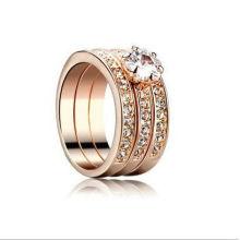 Мода золотое кольцо с бриллиантами обручальное кольцо для новобрачных ювелирные изделия OSFR0018