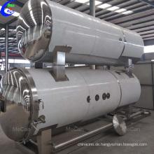 Retortenbearbeitung im Wassertauchlabor in der Lebensmitteltechnologie