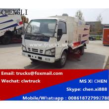 Isuzu 600 p 4x2 LHD 3m 3 caminhão estrada Sweeper