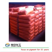 Iron oxide red for floorings and industrial coatings and iron chemicals