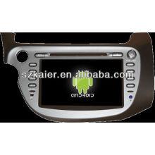 Reprodutor de DVD do carro do sistema de Android para Honda Fit / Jazz com GPS, Bluetooth, 3G, iPod, jogos, zona dupla, controle de volante