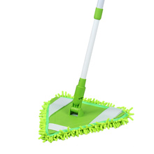 Extendable Bathroom Rotating Telescopic Microfiber Triangle Cleaning Mop Floor Cleaner Mop With Aluminium Handle