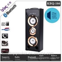 BBQ KBQ-166 NEW hot-selling multimedia speaker system wireless tower wood bluetooth speaker