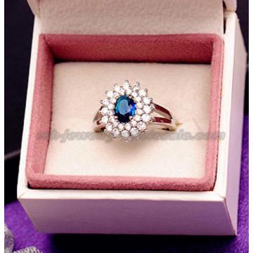 Trendy Big Gemstone Noble Crystal Rings For Women