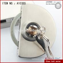 glass door lock for chain supplies