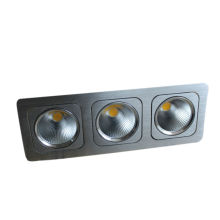 2013 new design 3*10W Three Head COB LED Square Downlight