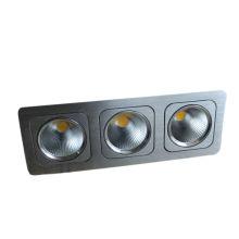 2013 novo design 3 * 10W três cabeça COB LED quadrado Downlight