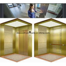 Mirror Etched Stainless Steel Commerical Passenger Elevator